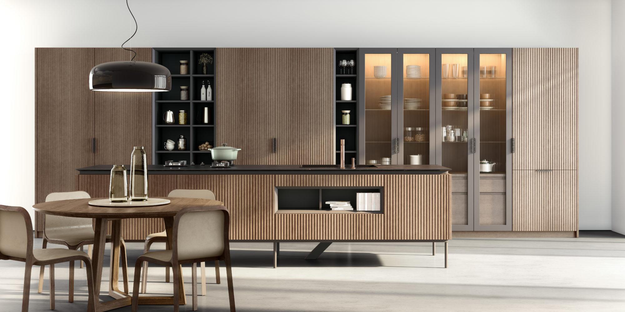 cocina elegante madera cole01